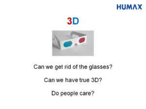 Slide about 3D TV