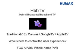 Slide about HbbTV