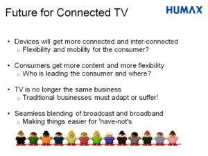 Powerpoint slide on connected TV